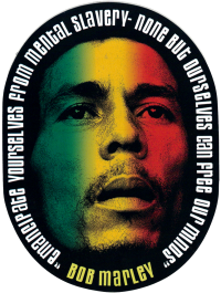 Bob Marley Emancipate Yourselves From Mental Slavery - Window Sticker / Decal