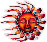 WA405 Sleeping Sun - Window Sticker