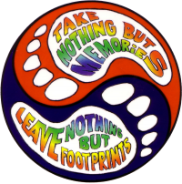 Take Nothing But Memories, Leave Nothing But Footprints - Window Sticker / Decal
