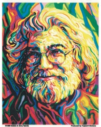 "Grateful Dead Jerry Garcia Portrait - Window Sticker / Decal (4.5"" X 5.5"")"