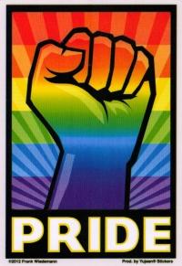 "Pride Fist - Window Sticker / Decal (3.5"" X 5"")"