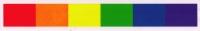 """Rainbow Strip - Window Sticker / Decal (7"""" X 1"""")"""