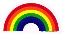 """Rainbow - Window Sticker / Decal (4.5"""" X 2.75"""")"""