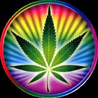 Psychedelic Pot Leaf - Window Sticker