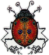 "Om Bug - Window Sticker / Decal (4"" X 5"")"