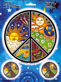 "Sun, Moon & Season Multi-Pack - Window Stickers / Decals (1 - 5.5"" Circular, 2 -"