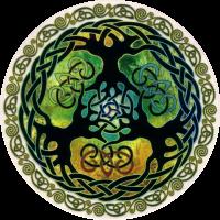 "World Tree - Window Sticker / Decal (4.5"" X 4.5"")"