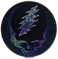 "Grateful Dead Sparkling Steal Your Face - Window Sticker / Decal (5.5"" Circular)"