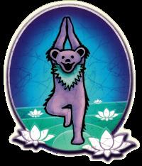 "Grateful Dead Yoga Bear - Window Sticker / Decal (4.75"" X 6"")"