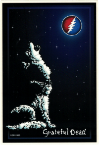"Grateful Dead Wolf - Window Sticker / Decal (4.25"" X 6.25"")"