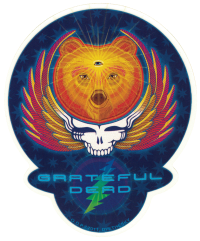 "Grateful Dead Third Eye Bear - Window Sticker / Decal (5.5"" X 6.5"")"