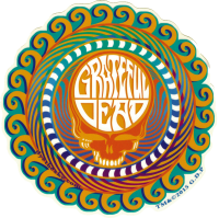 "Grateful Dead Orange Sunshine Stealie - Window Sticker / Decal (5.5"" Circular)"