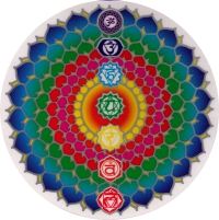 "Chakra Healing - Window Sticker / Decal (5.5"" Circular)"