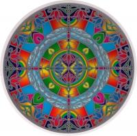 "Dragonflies - Window Sticker / Decal (5.5"" Circular)"