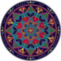 "Mindfulness Mandala - Window Sticker / Decal (5.5"" Circular)"