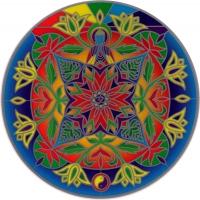 "Lotus Buddha - Window Sticker / Decal (5.5"" Circular)"