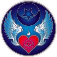 "Winged Heart - Window Sticker / Decal (5.5"" Circular)"