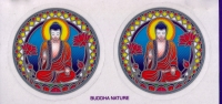 "Buddha Nature - Window Sticker / Decal (2.25"" X 2.25"" each)"