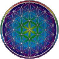 "Flower of Life - Window Sticker / Decal (5.5"" Circular)"