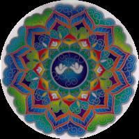 "Peace Mandala - Window Sticker / Decal (5.5"" Circular)"