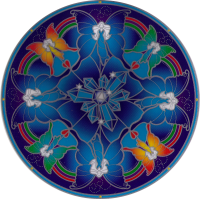 "Crystal Fairy Mandala - Window Sticker / Decal (5.5"" Circular)"