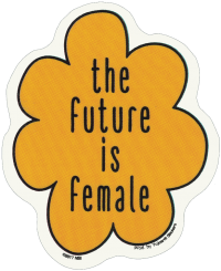 "The Future Is Female - Window Sticker / Decal (3.5"" X 4.25"")"