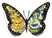 """Chariot Butterfly - Window Sticker / Decal (5"""" X 3.75"""")"""