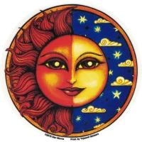 "Celestial Twilight - Window Sticker / Decal (4.5"" Circular)"