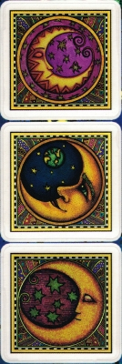 """3 Moons - Window Sticker / Decal (3 at 2"""" X 2"""" each)"""