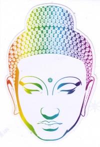"Buddha Head - Window Sticker / Decal (3"" X 4.5"")"