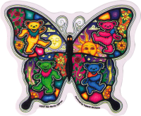 "Dancing Butterfly - Grateful Dead - Window Sticker / Decal (5"" X 4"")"