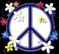 WA994 - Peace Sign Daisies - Window Sticker