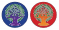 "Earth Mandala - Window Sticker / Decal (2.25"" X 2.25"" each)"