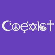 Coexist (on Violet) - Women's T-Shirt
