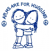 Arms Are For Hugging (On White) - T-Shirt