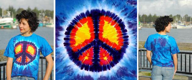 Peace Sign - Tie Dye T-Shirt