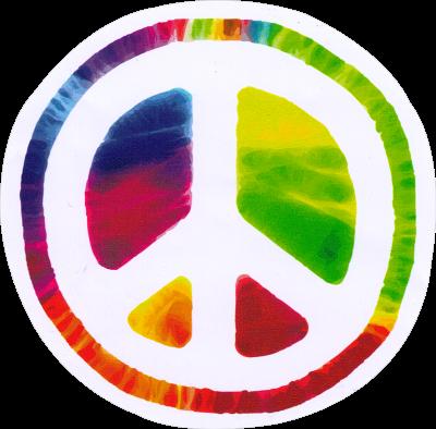 Window Sticker//Decal Swirly Peace Hand 4 by 5 Translucent